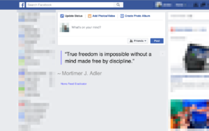 Newsfeed Eradicator Officeflucht
